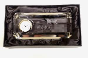 クリスタル置き時計